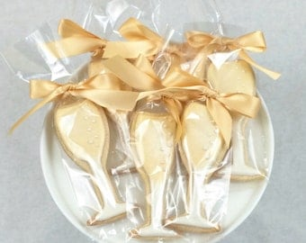 Champagne Glass Favor Cookies - 1 Dozen