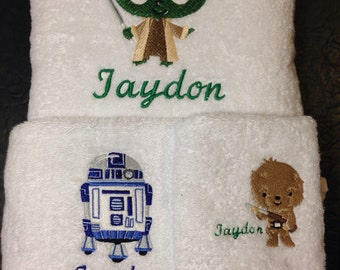 STARS WARS towel and washer set