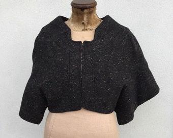 Antonio Berardi original. Cropped blazer in melange wool.
