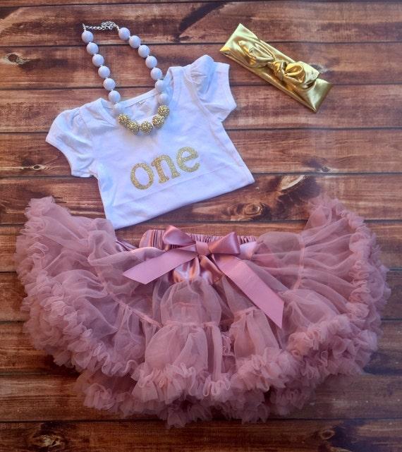 First Birthday Outfit Girl 1st Birthday Pink By POSHinPINKKIDS