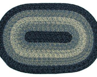 Maine Blue Braided Rug