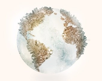 Crystal Planet | Earth | Geography | Globe | Design