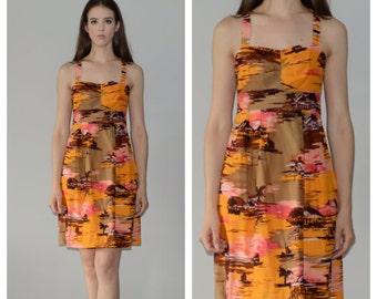 1960s Hawaiian Summer dress, size XS