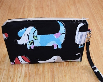 Dachshund Print Toiletries Bag/Cosmetic Bag