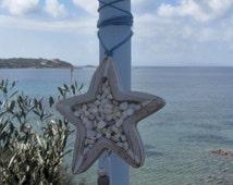 Greek Easter candle (lampada) with starfish