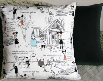 Zombie Apocalypse Cushion Cover (White)