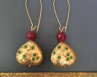 Sweetheart gold plated earrings