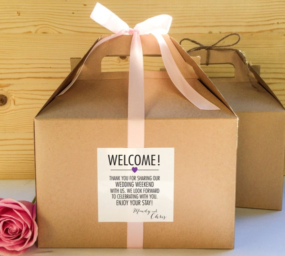 Out of Town Guest Favor Boxes, Hotel Guest Welcome Boxes, Gable ...