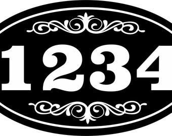 """Personalized House Address Sign Plaque Aluminum Won't Fade, Peel or Chip 7""""x12"""" New Oval Aluminum Sign"""