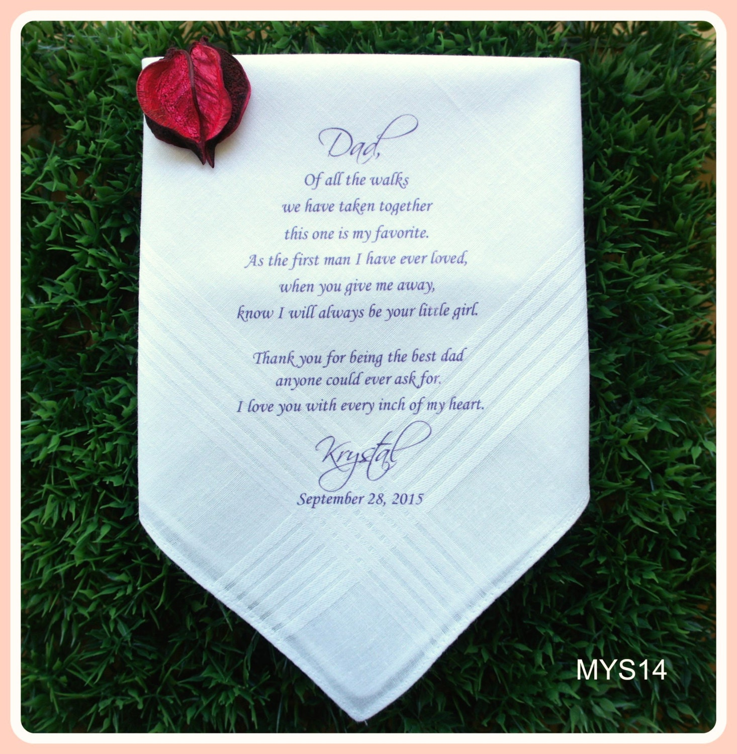 Father Of The Bride Wedding Gifts: Father Of The Bride Hankerchief-Wedding