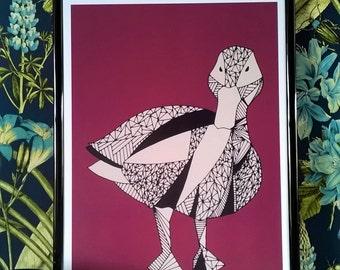 A4 duck art print
