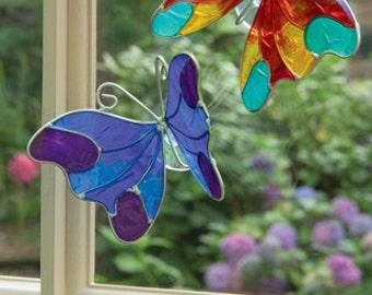 Butterfly resin suction cup sun/lightcatcher