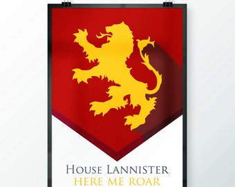 50% OFF!! LIMITED TIME!! Game of Thrones - House Lannister Banner Print Poster
