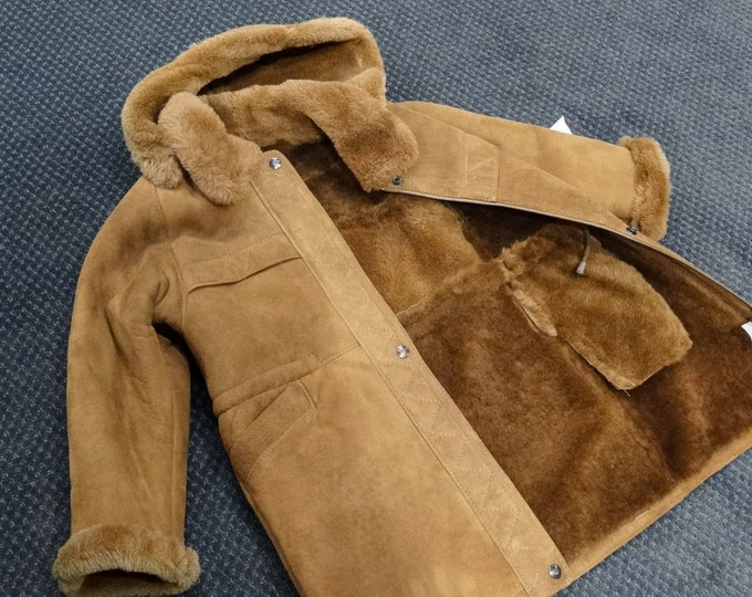 Kids Fur Coat,Mouton Jacket F173