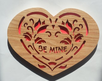 Valentine Hart, Great gift for her, wall hanging