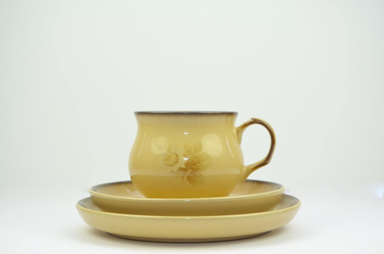 Denby u0027Memoriesu0027 teaset trio cup saucer and small plate stoneware & Denby u0027Memoriesu0027 teaset trio: cup saucer and small plate ...