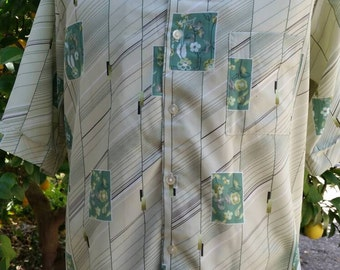Don Loper Beverly Hills short sleeve Silk Shirt Mens Extra Large Tall