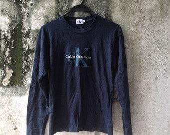 Women's Calvin Klein Crewneck Shirt L/Sleeve Size S