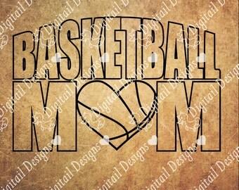Basketball Mom SVG - png - dxf - eps - ai - fcm - Cut file - Silhouette - Cricut - Basketball Mom SVG - Basketball Cut File