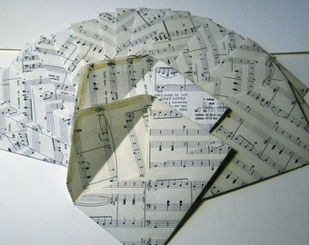 """Upcycled sheet music Envelopes set of 10 handmade from music pages 4.25""""x 6.25"""" for 4x6 photos handmade thank you cards shower invitations"""