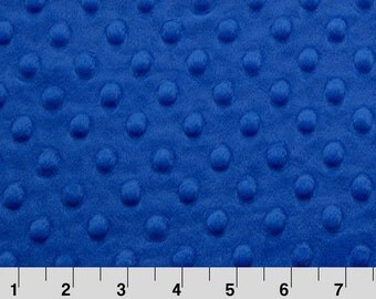 Electric Blue Minky Fabric by the Yard by Shannon Fabrics