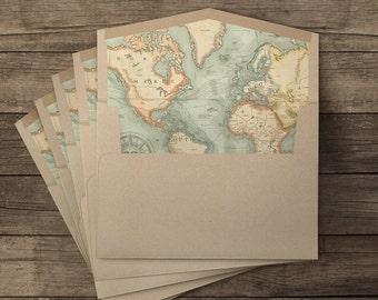 Nuestro viaje lined envelopes - 10 pieces