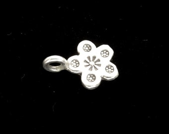 Flower pendant 925 silver -P030G