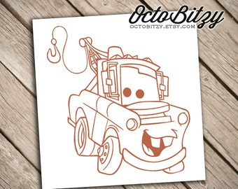 Tow Mater, Cars Decal Sticker