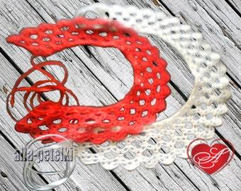 White collar,red collar,Crochet collar, peter pan collar, detachable goldenrod collar, romantic. Choose your favorite color!
