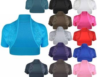New cotton sequin beaded cap short sleeve shrug