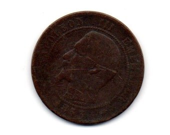France; 1853 10Cents Coin