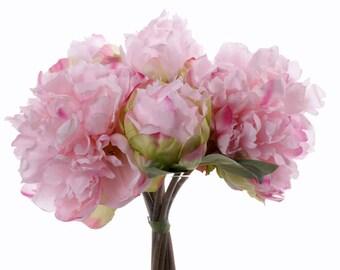 Peonies bouquet | wedding bouquet | peonies flower bouquet | pink peony bouquet | silk peony bouquet | peony bridal bouquet