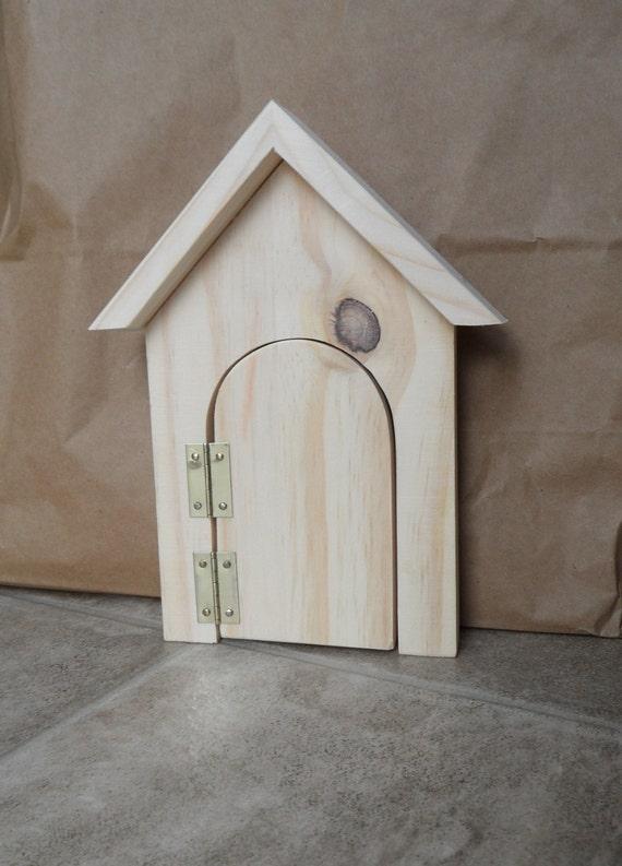 Wooden fairy elf door craft plain blank ready to decorate for Wooden fairy doors to decorate