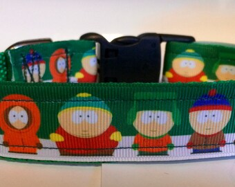 Handmade Southpark South Parkk dog collar Adjustable nylon