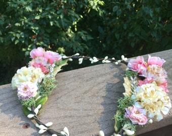 Baby Shower Flower Crown Halo