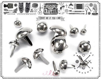 25PCS 20MM Round dome purse feet studs NAILHEADS