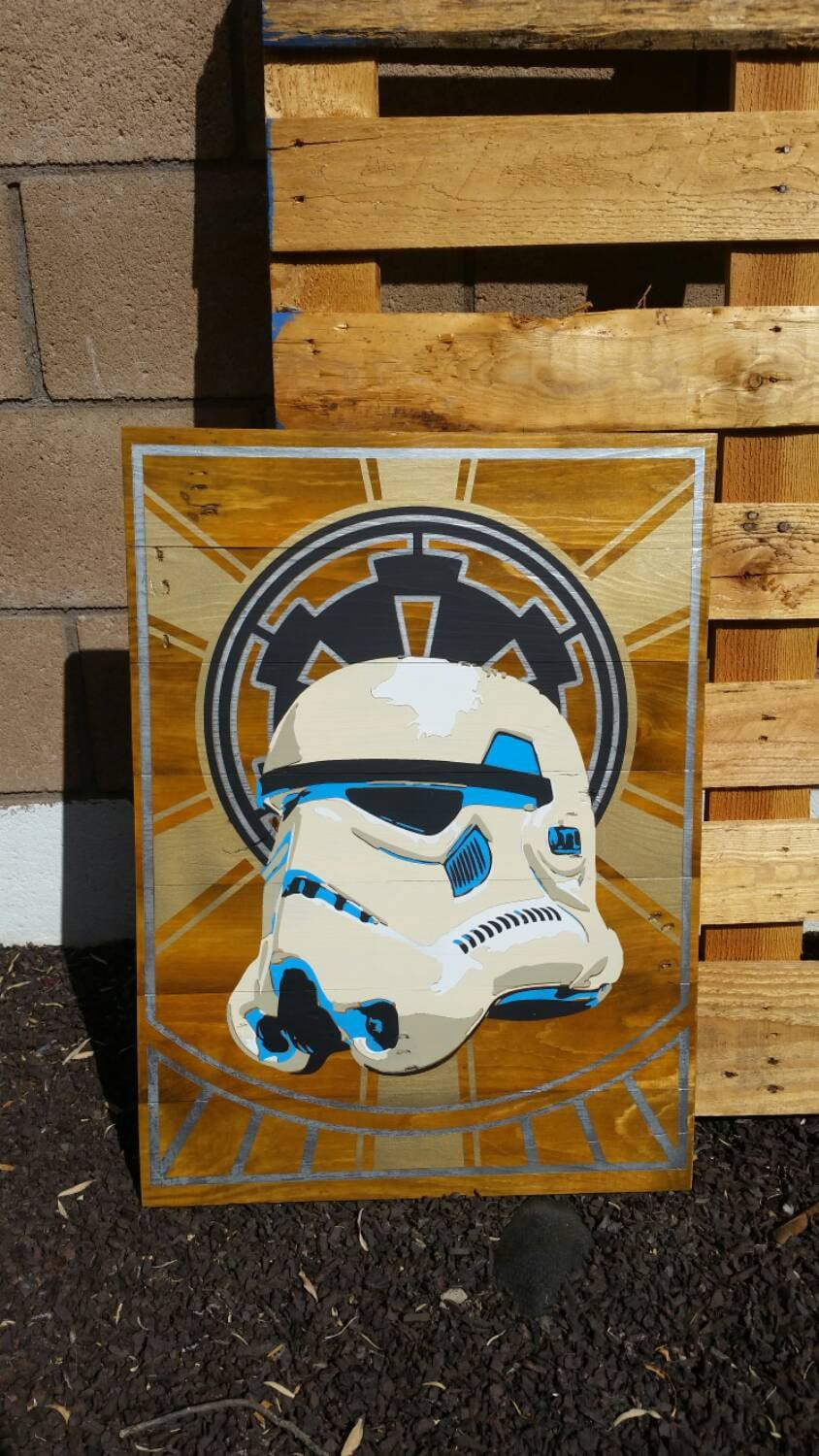 18x24 wall art home decor star wars stormtrooper by for Star wars home decorations