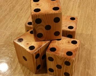 Lawn Dice, Yardzee dice, wooden dice, farkle, lawn games, handmade dice