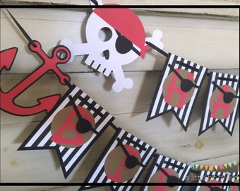 Pirate Birthday Banner, Pirate Party, Pirate Party Supplies, Pirate Party Decorations, Pirate Birthday Party, Pirate Theme Party