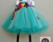 25% off ends 7/30 woodland fairy dress, flower girl dress, tutu dress, teal tutu dress, fairy gown, fairy dress, flower crown, fairy costume