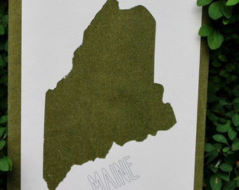 Classic Maine Silhouette Wall Art