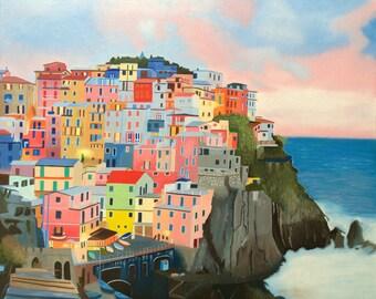 Cinque Terre - original oil painting 24x20