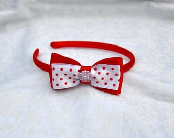 kanzashi hairband, handmade ribbon bow hairband, red hairband, pink hairband, blue hairband, handmade girls ribbon hair accessories