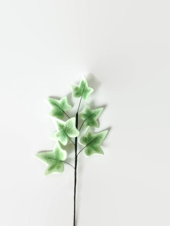Ivy Leaves Sugar Flower Spray for decorating wedding cakes, bridal shower, engagment cakes, cake toppers, gumpaste flowers and greenery
