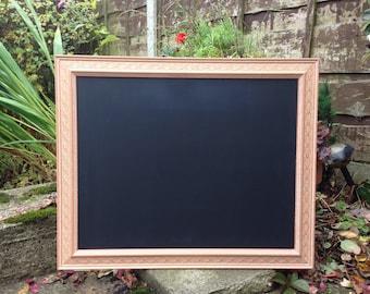 Pink terroctta chalkboard vintage pink blackboard leaf pink chalkboard pink menu pink blackboard