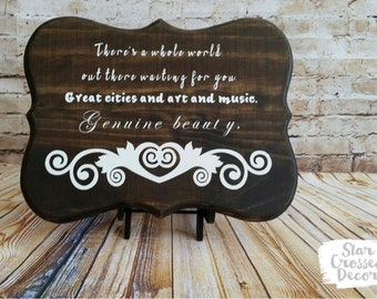 The Vampire Diaries Wood Quote Wall Decor