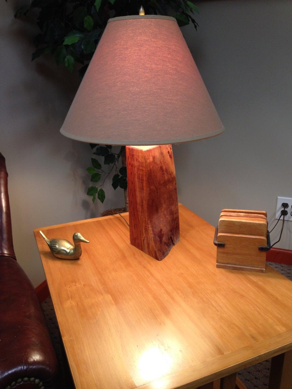 solid mahogany wood table lamp reclaimed wood irregular shape. Black Bedroom Furniture Sets. Home Design Ideas