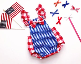 Patriotic Romper ! Perfect for baby First 4th July and Photoshoot!(This list is for Romper ONLY)