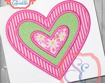 Motif INSERT HEART Applique Design For Machine Embroidery INSTANT Download