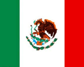 30x60 Mexico Flag Beach Towel